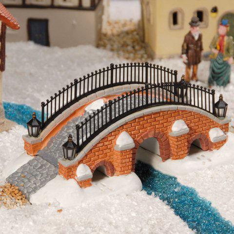 Weihnachtsdeko Für Geländer.Lichthäuser Miniatur Weihnachtsdeko Backstein Brücke