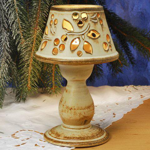 Keramik deko windlicht mit lochmuster f r terrasse wohnung for Windlicht terrasse