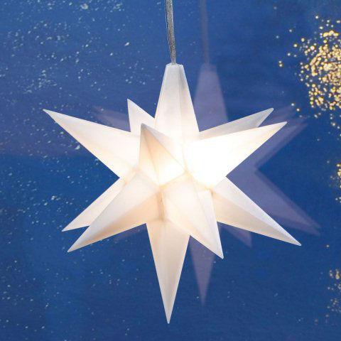 Weihnachtsdeko Led Stern.Advents Stern Weihnachtsdeko Fensterhänger Mit Weißer Led