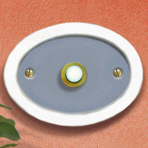 Haustürklingel aus keramik ovale form mit klingelknopf