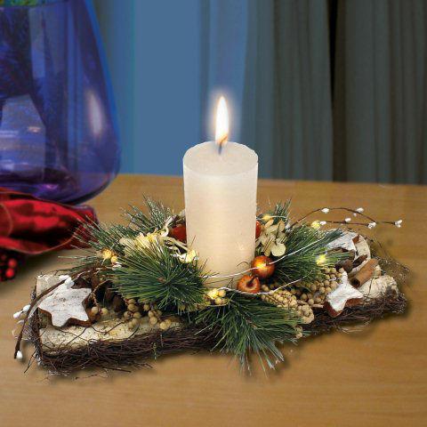 tischgesteck weihnachten winterdeko weihnachtskranz. Black Bedroom Furniture Sets. Home Design Ideas