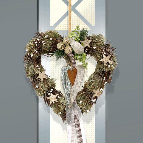 T rh nger winterherz weihnachtsdeko aus naturmaterial - Weihnachtsdeko aus naturmaterialien ...
