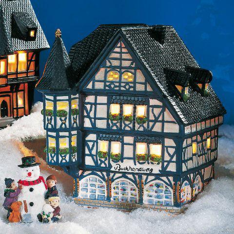 keramik historisches lichthaus buchhandlung fachwerkhaus mit erker. Black Bedroom Furniture Sets. Home Design Ideas