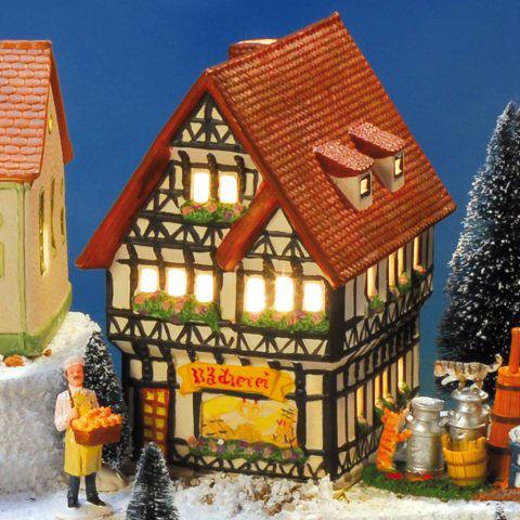 keramik fachwerk altstadtlichthaus b ckerei mit schaufenster. Black Bedroom Furniture Sets. Home Design Ideas