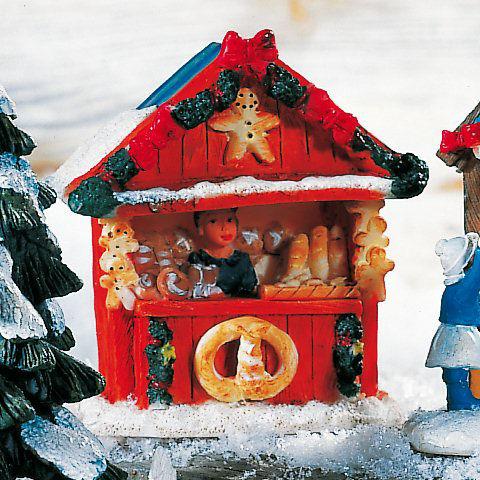 Lichthäuser Weihnachtsdeko Marktstand Frische Brezeln