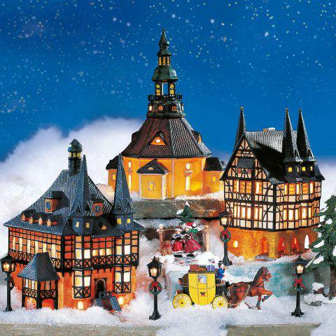 Lichthauser Weihnachtsdeko Set Historische Hauser