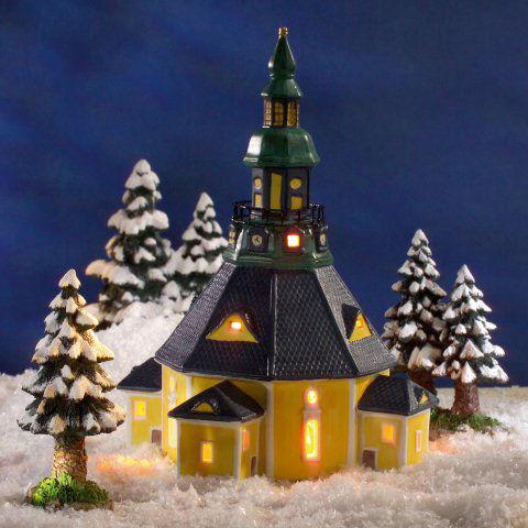 Keramik Lichthaus Weihnachtsdeko Seiffener Kirche
