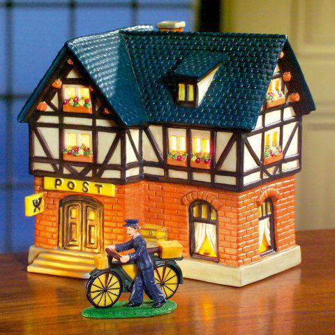 keramik lichthaus weihnachtsdeko altes postamt. Black Bedroom Furniture Sets. Home Design Ideas