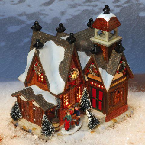 """Keramik Lichthaus Weihnachtsdeko """"Stadthaus"""""""