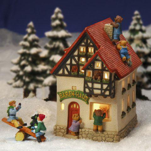 keramik lichthaus weihnachtsdeko b renhaus. Black Bedroom Furniture Sets. Home Design Ideas