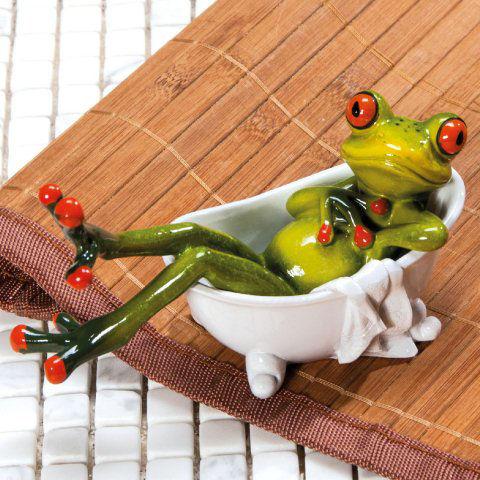 deko frosch in badewanne badezimmer dekofigur. Black Bedroom Furniture Sets. Home Design Ideas