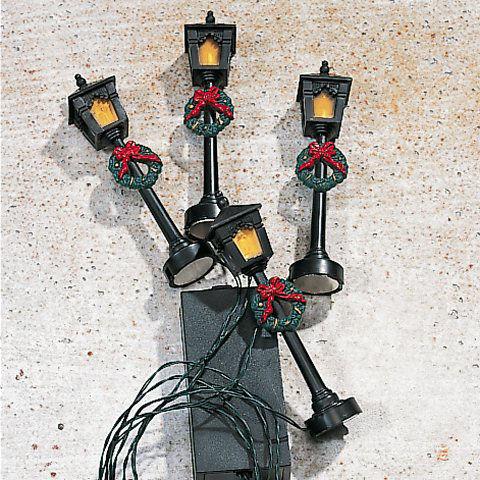 Weihnachtsdeko Straßenbeleuchtung.Miniaturlaternen 4er Set Straßenbeleuchtung