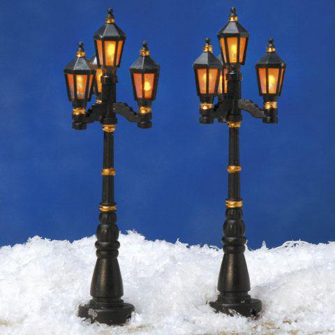 Weihnachtsdeko Straßenbeleuchtung.Miniaturlaternen Wien 2er Set Straßenbeleuchtung