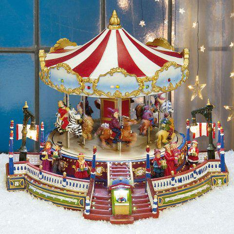 Pferde-Karussell, animierte Lichthäuser Weihnachtsdeko