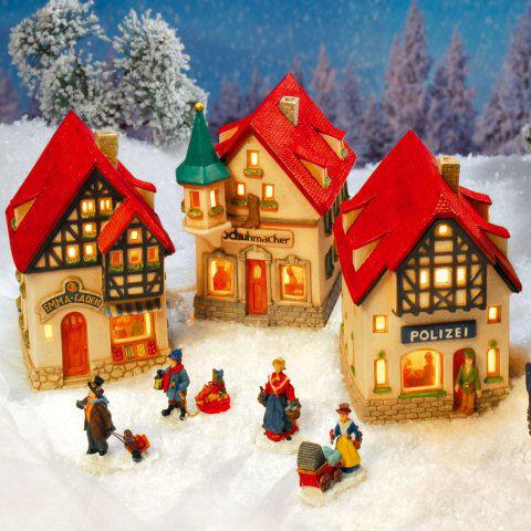 Lichthauser Weihnachtsdeko Set Kleine Hauser