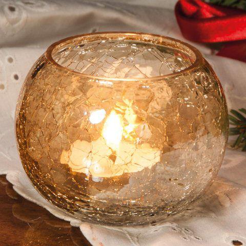 Weihnachtsdeko glas teelichthalter craquel e - Weihnachtsdeko glas ...