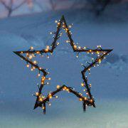 """LED-Gartenstecker 2er-Set """"Stern"""" und """"Baum"""""""