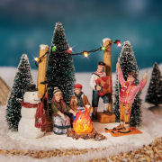 "Lichthäuser Miniaturfiguren Set ""Après-Ski-Party"" mit LED"