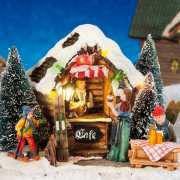 """Lichthäuser Weihnachtsdeko """"Skicafé"""" mit Lichtergirlande"""
