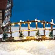 Miniatur Holzzaun mit Beleuchtung, Lichthäuser Zubehör