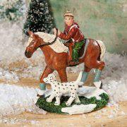 """Lichthäuser Miniaturfiguren """"Pony mit Reiter und Hund"""""""