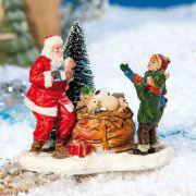 """Lichthäuser Miniaturfiguren """"Geschenke vom Nikolaus"""""""