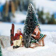 """Lichthäuser Miniaturfiguren """"Brotzeit im Schnee"""""""
