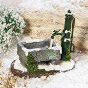 """Lichthäuser Miniatur Landschaftsdeko """"Dorfpumpe mit Trog"""""""