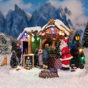 """Lichthäuser Weihnachtsdeko """"Weihnachtsbaumverkauf"""" mit LED"""