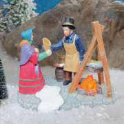 """Lichthäuser Miniaturfiguren Set """"Heißer Punsch am Feuer"""""""