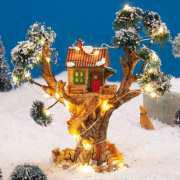 """Lichthäuser Weihnachtsdeko """"Baumhaus mit Treppe"""""""