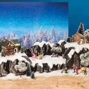 """Lichthäuser Podest """"Winterlandschaft"""", Weihnachtsdeko"""