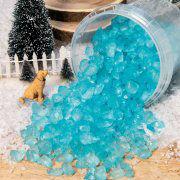 Eisblaue Eis-Nuggets, winterliche Miniatur Landschaftsdeko