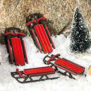 """Lichthäuser Miniatur Weihnachtsdeko """"Schlitten 4er-Set"""""""