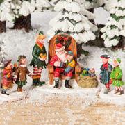 """Lichthäuser Miniaturfiguren Set """"Weihnachtsmann-Besuch"""""""