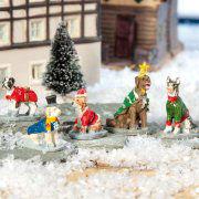"""Lichthäuser Miniaturfiguren """"Hunde-Verkleidung"""""""