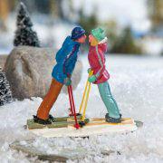 """Lichthäuser Miniaturfiguren """"Kuss im Schnee"""""""