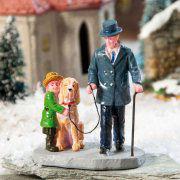 """Lichthäuser Miniaturfiguren """"Spaziergang mit Hund"""""""