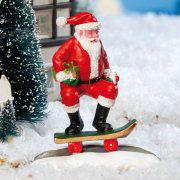 """Lichthäuser Miniaturfigur """"Weihnachtsmann auf Skateboard"""""""