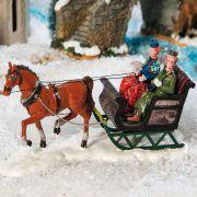 "Lichthäuser Miniaturfiguren Set ""Kutschfahrt im Winter"""