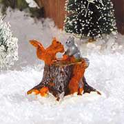 """Lichthäuser Miniaturfiguren Set """"Eichhörnchen im Wald"""""""