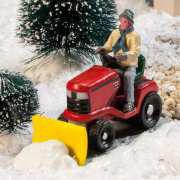 """Lichthäuser Miniaturfiguren Set """"Mann auf Schneepflug"""""""