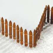 Miniatur Holzzaun, Lichthäuser Weihnachtsdeko
