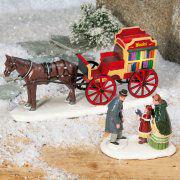 """Lichthäuser Miniaturfiguren Set """"Bücherkutsche"""""""