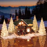 LED Kristall-Bäume 4er-Set, Weihnachtsdeko mit Wechselfarben