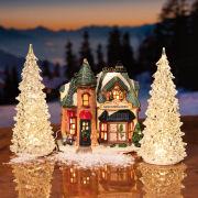 LED Kristall-Bäume 2er-Set, Weihnachtsdeko mit Wechselfarben