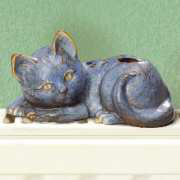 Wasserverdunster Luftbefeuchter, Mini Katze aus Keramik