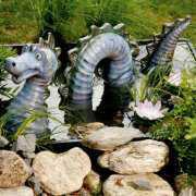 """Teichfigur Wasserdrache """"Nessie"""" zur Gartendekoration"""