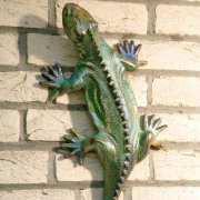 """Dekofigur """"Salamander"""", Wanddeko Tierfigur aus Keramik"""