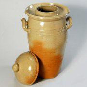 Gärtopf aus handgetöpfertem Steinzeug, Inhalt 15 Liter